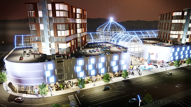 Rendering of Mall Proposal Located in Reno Nevada