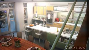 Modern Loft Open Concept Kitchen