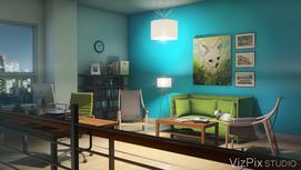 Modern Home Office Visualization