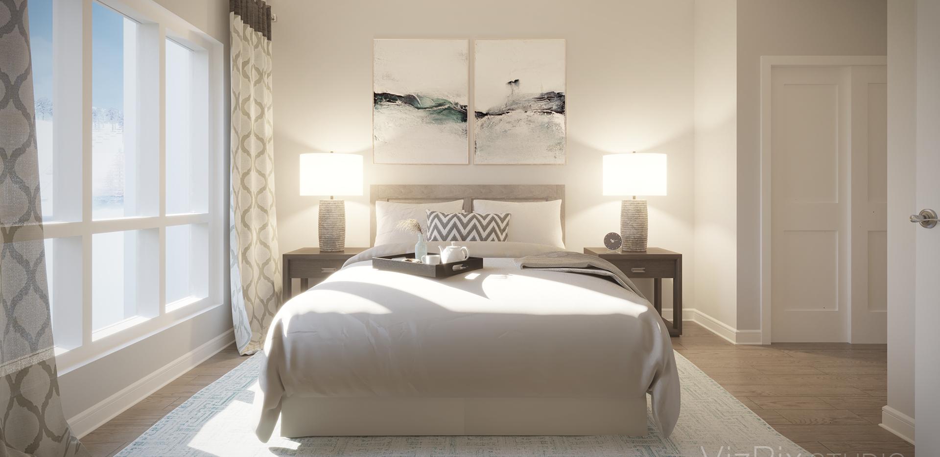 The Summit Bedroom 3D Render