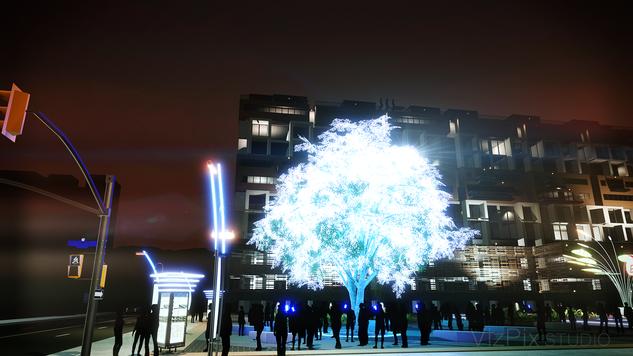 Tree of Ténéré Art Burning Man Rendering