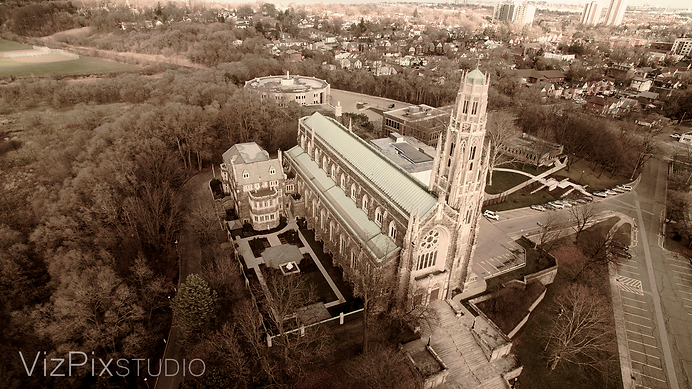 Drone Photography of Cathedral