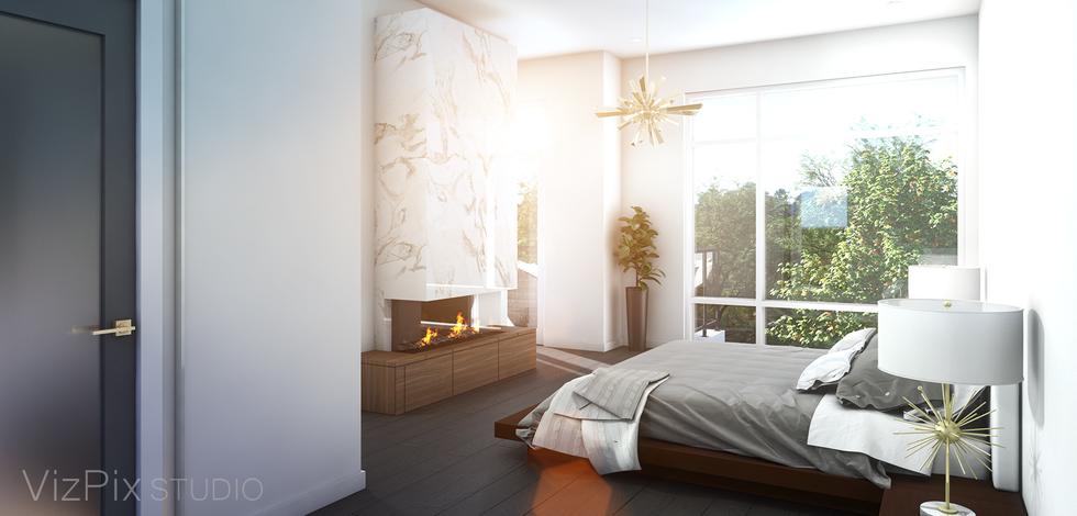 Highcroft Townhouse Bedroom Rendering