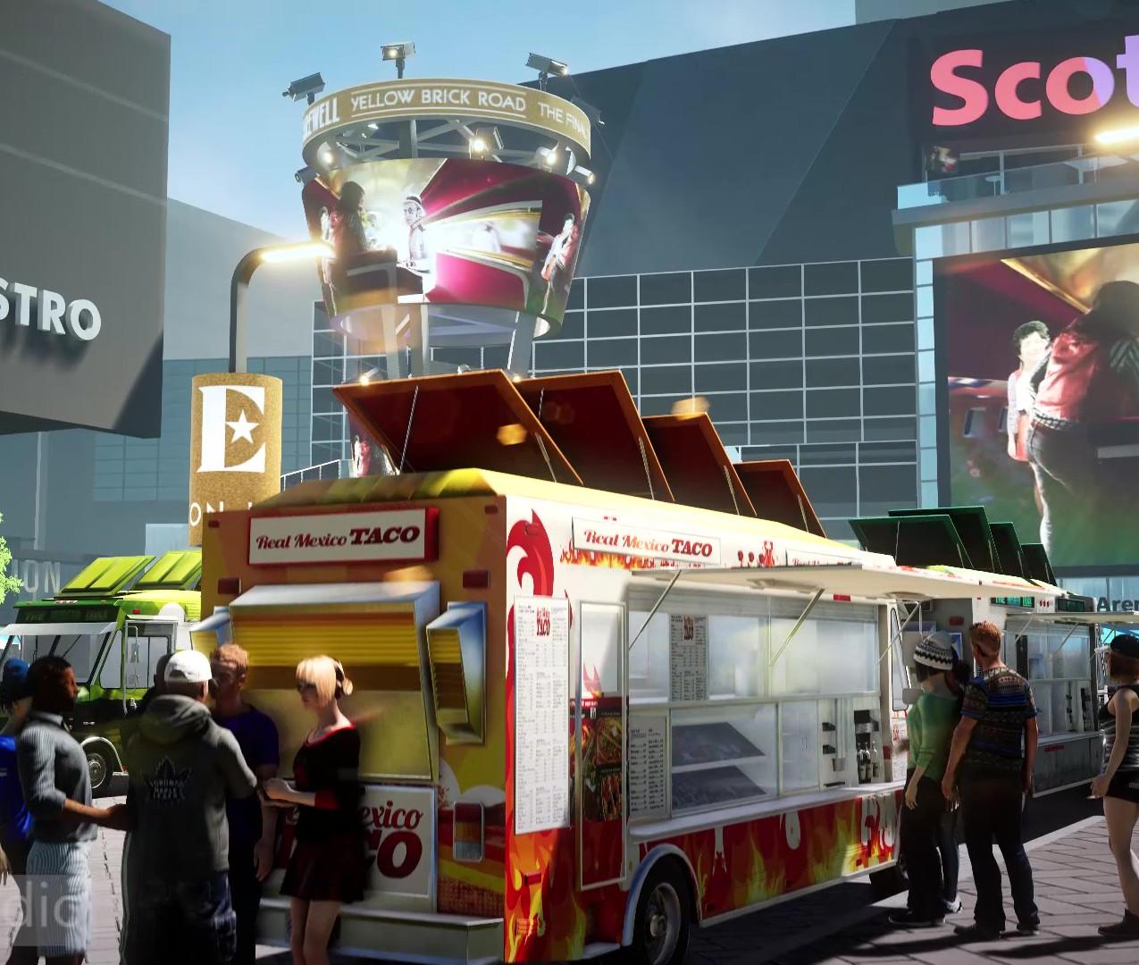 3D rendering arena 006 in front of arena