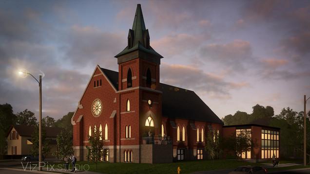 Architectural Visualization of a Church Conversion