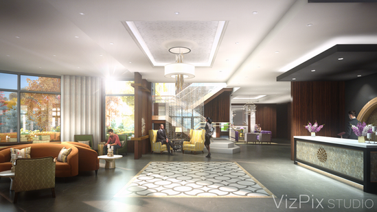 Upper Vista Front Lobby Visualization