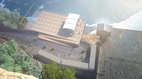Photo Montage Visualization of Zipline at Niagara Falls