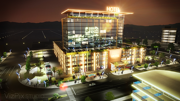 Architectural Visualization of Hotel in Reno Nevada