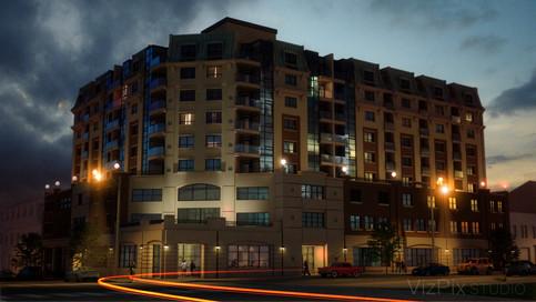 Dusk Architectural Hotel Rendering