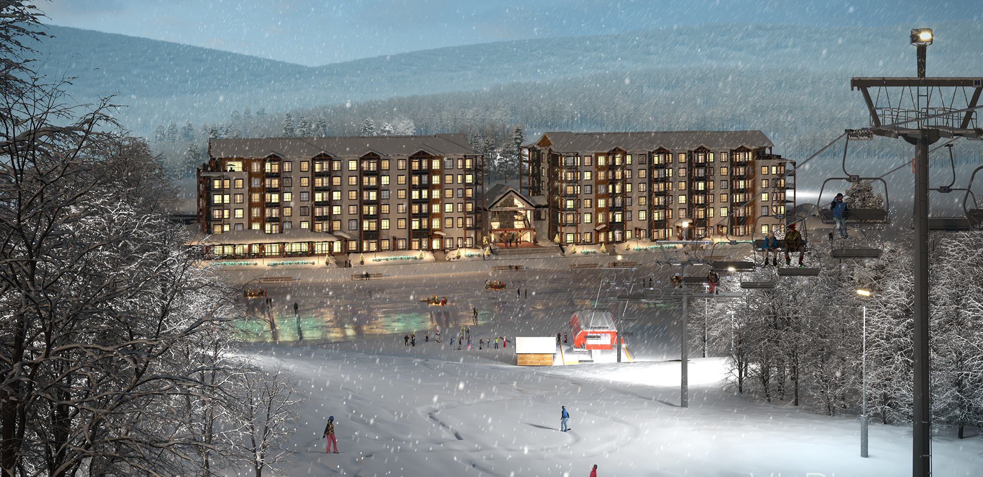Edge Condo Ski Hill Rendering