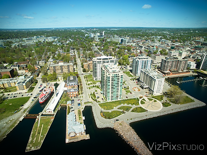 Drone photography of Kingston, Ontario