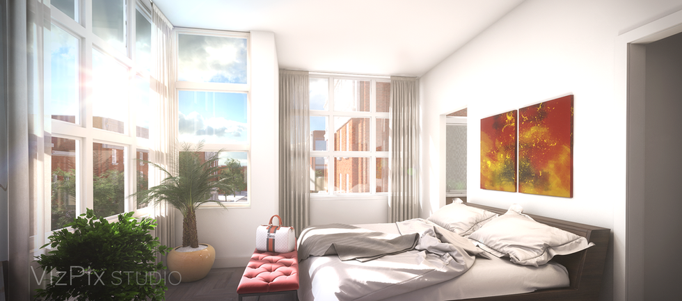 Interior Visualization of a Bedroom