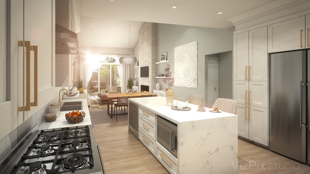 37 Henley Drive Kitchen Architectural Visualization