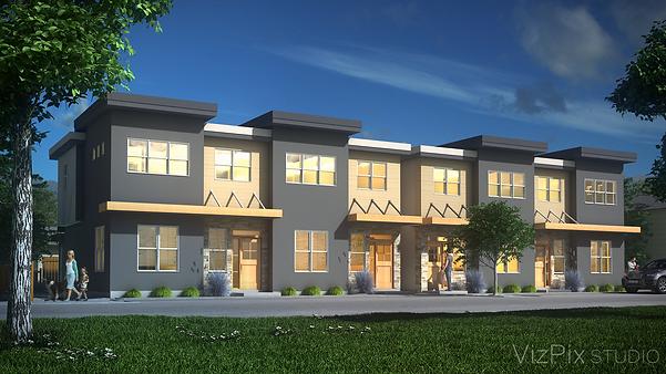 Duplex Housing Development Render