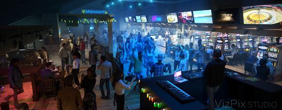 3D Visualization of Casino Bar