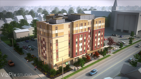 3D Rendering of Student Housing