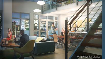 3D Modern Open Concept Rendering