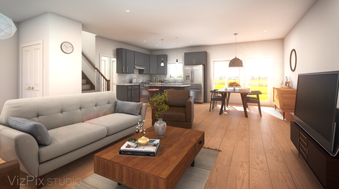 6599 Montrose Rd Living Room Rendering