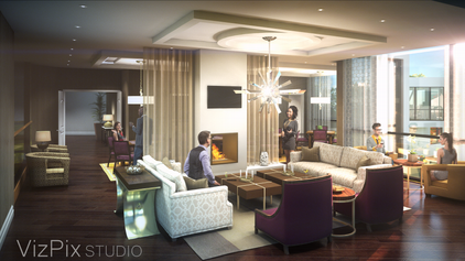 Party Room Visualization Rendering