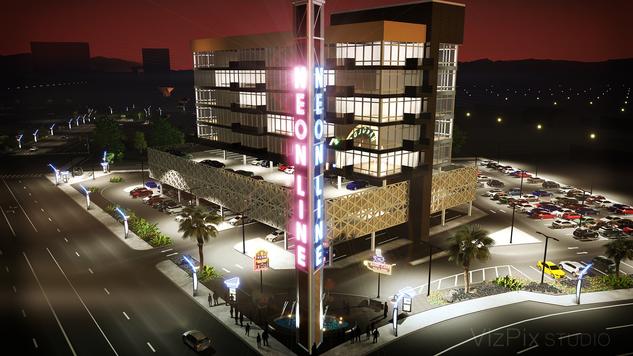 Reno's Neon Line Development Rendering