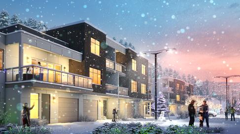 Winter Ski Lodge Visualization