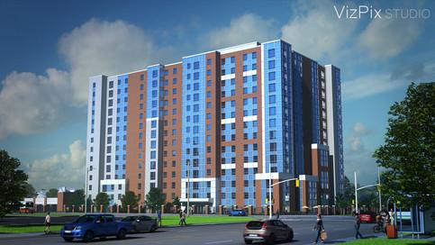 3D Rendering of Student Residence