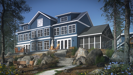 Luxury Muskoka Cottage Rendering