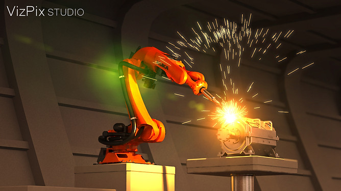3D Kuka Robot Animation Still