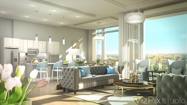 Lavish Penthouse Suite Architectural Visualization