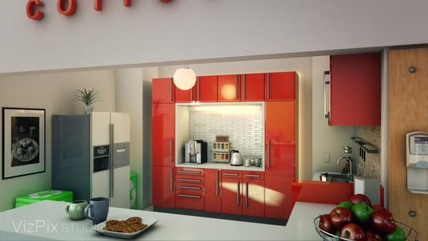 VizPix Studio- office kitchen render
