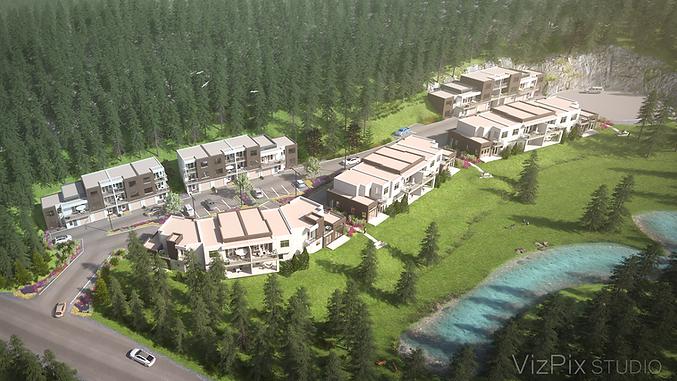 3D Site Plan of Ski Resort
