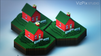 Stylized Rendering of Houses