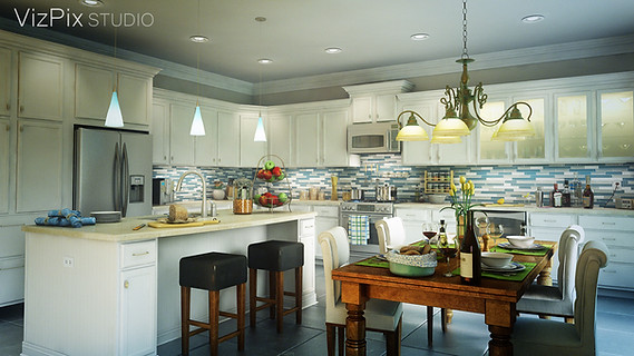 Kitchen Visualization Render