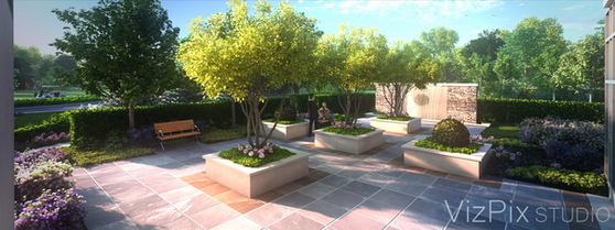 Upper Vista Garden Courtyard Rendering