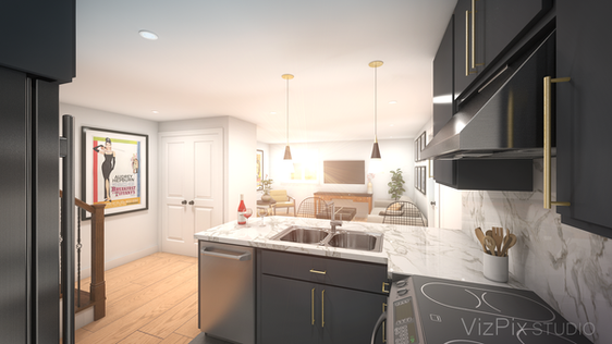 6599 Montrose Rd Modern Kitchen Visualization