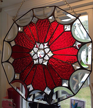 Stained Glass and lead body butterfly