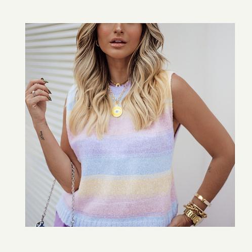 Colete tricot multi colors