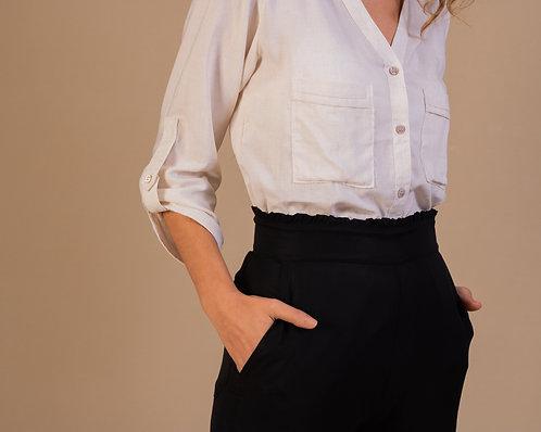 Camisa Angra de viscose com linho