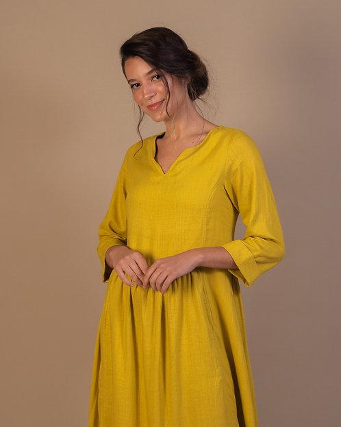 Vestido Vintage Mostarda