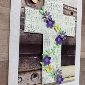 Easter Cross Card - video tutorial