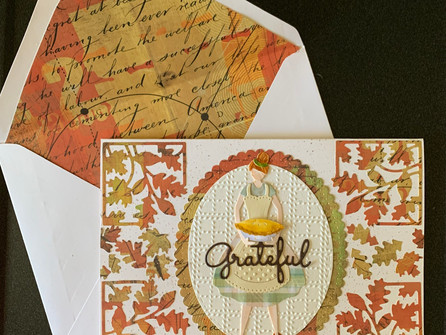 Grateful Thanksgiving Card - video tutorial