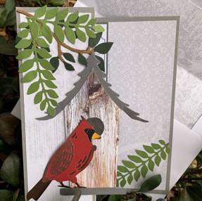 Z Fold Cardinal Card - video tutorial