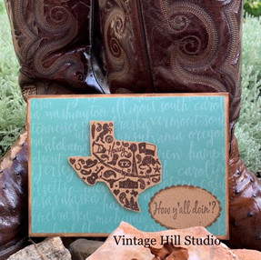 Howdy from Texas card - video tutorial