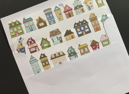Envelope Liner with Houses - video tutorial