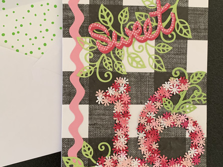 Sweet Sixteen Card - video tutorial