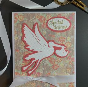 Stork & Baby Card