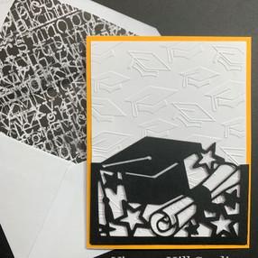 Graduation card - video tutorial