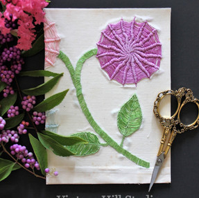 Cards from Vintage Linens - video tutorial