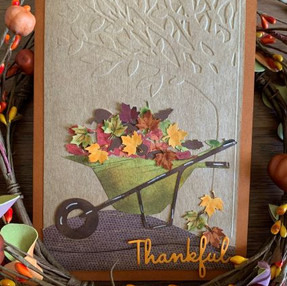 Rusty Wheelbarrow Thanksgiving Card - video tutorial