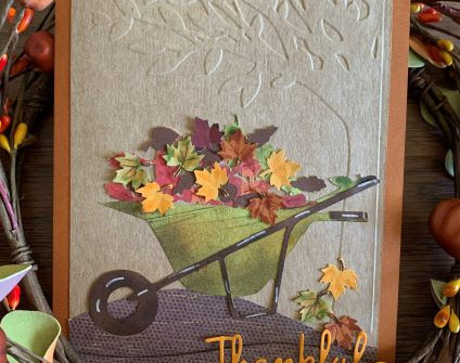 Rusty Wheelbarrow Thanksgiving Card - video tutorial